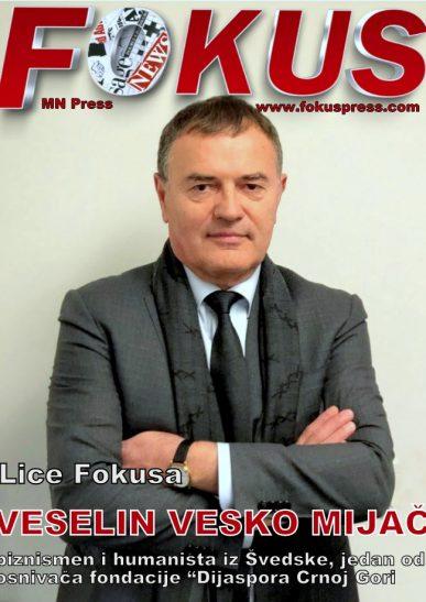 """Lice Fokusa: Veselin Vesko Mijač, biznismen i humanista iz Švedske, jedan od osnivača fondacije """"Dijaspora Crnoj Gori"""""""