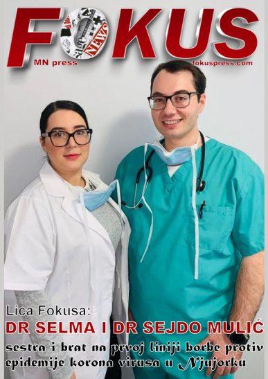 Dr Sejdo i dr Selma Mulić, brat i sestra na prvoj liniji borbe protiv epidemije koronavirusa u Njujorku