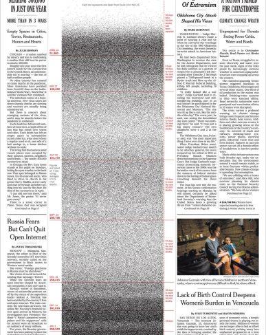 Naslovna strana povodom 500.000 preminulih Amerikanaca