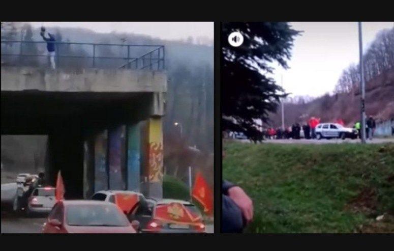 Sačekuša: Automobil sa crnogorskom zastavom zasuli fekalijama, a u neposrednoj blizini bile spremne palice (VIDEO)